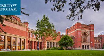 Canada Undergraduate Scholarship at University of Birmingham in UK, 2018