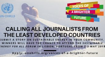 2018 UN-OHRLLS Voices of a Brighter Future Competition Fully Funded to Lisbon, Portugal