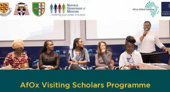 AfOx Visiting Fellows Program for African Students in UK, 2018