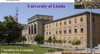 Master Scholarships for Foreign Students at University of Lleida in Spain, 2018