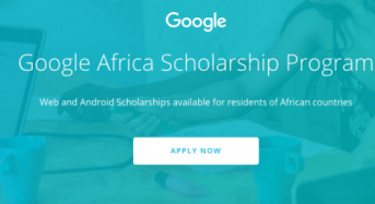 Udacity Google Africa Scholarship Program for Aspiring Developers, 2018