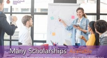 Full Tuition Waiver Undergraduate Scholarships for International Students at WUIC in Thailand, 2018