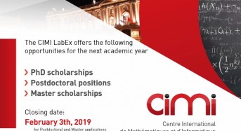 CIMI Toulouse– University of Toulouse Post- doctoral Fellowships for International Students, 2019