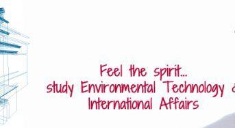 "Die Presse Scholarship for the MSc Program""EnvironmentalTechnology & International Affairs"", 2019"