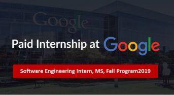 Software Engineering Intern, MS, Fall Program 2019