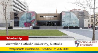 AUC Bob and Margaret Frater International Travel Scholarship in Australia, 2019