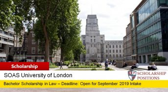 International Postgraduate Merit funding for the Department of Economics in UK, 2019