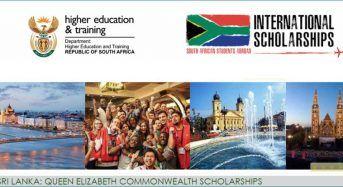 Queen Elizabeth Commonwealth Scholarships for International Students in Sri Lanka, 2019