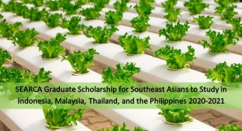SEARCA Graduate funding for Southeast Asians 2020-2021
