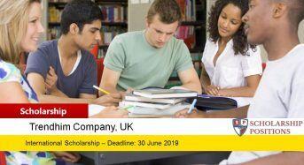 TRENDHIM Talent funding for International Students, 2019