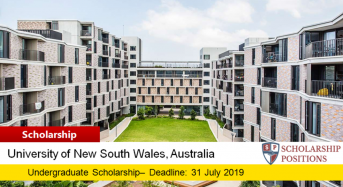 UNSW Arts & Social Sciences UG International High Achievers Award in Australia, 2019