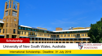 UNSW Business School International Pathways Award in Australia, 2019