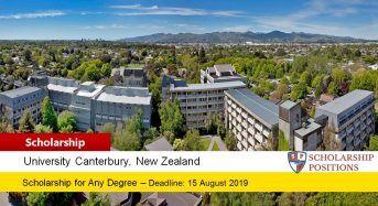 150 Go Canterbury Scholarship in New Zealand, 2019