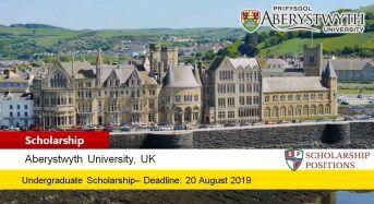 Aberystwyth International Scholarship in the UK, 2019