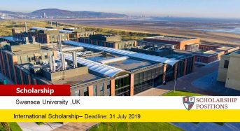 College of Science international awards at Swansea University in UK, 2019-2020