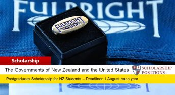 Fulbright New Zealand General Graduate Awards in the USA, 2019-2020