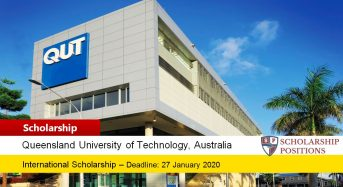 QUT International Merit Scholarship in Australia, 2020
