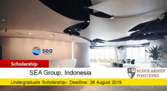 SEA Undergraduate Scholarship in Indonesia, 2019
