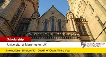UM School of Mathematics Award for International Students, 2019