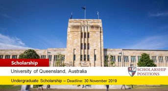 UQ Future Students Undergraduate Singapore Polytechnics Scholarships, 2019