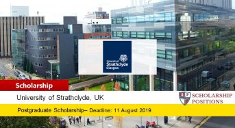 University of Strathclyde Presidents funding for International Students in UK, 2019