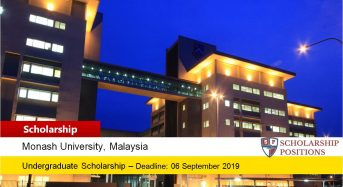 Monash High Achiever Award for Foreign Students in Malaysia 2019-2020