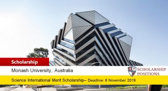 Science International Merit Grant at Monash University in Australia