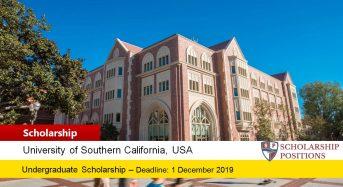 USC National Merit Presidential Scholarship in the USA, 2020