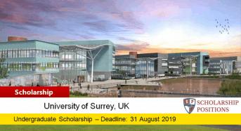 University of Surrey Newtons' funding for UK/EU Students, 2019