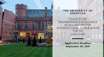Faculty of Engineering Excellence funding for International Students in the UK 2019-2020