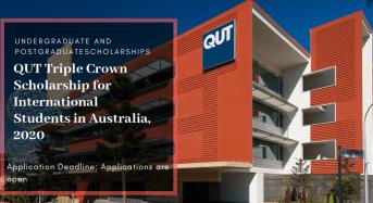 QUT Triple Crown funding for International Students in Australia, 2020