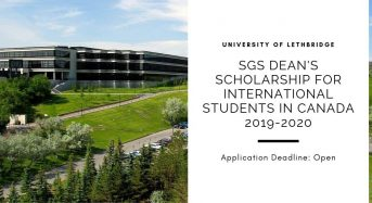 SGS Dean's funding for International Students in Canada 2019-2020