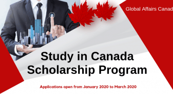 Study in Canada Scholarships Program for International Students 2020-2021