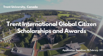 Trent University International Global Citizen Scholarships and Awards in Canada