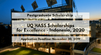 UQ HASS Scholarships for Excellence– Indonesia, 2020