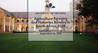 University of Pretoria Agriculture Forestry and Fisheries Bursary in South Africa 2020