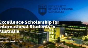University of Wollongong Excellence funding for International Students in Australia