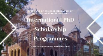 Western Australian Government Minerals Research Institute's International PhD programmes