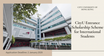City U Entrance Scholarship Scheme for International Students in Hong Kong