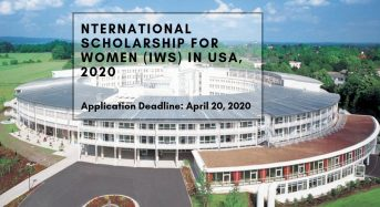International funding for Women (IWS) in USA, 2020