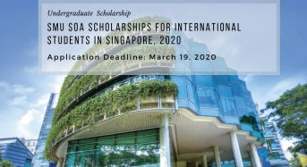 SMU SOA Scholarships for International Students in Singapore, 2020