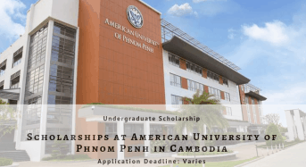 Scholarships at American University of Phnom Penh in Cambodia