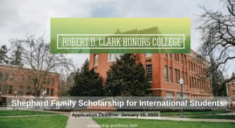 Shephard Family funding for International Students in the US