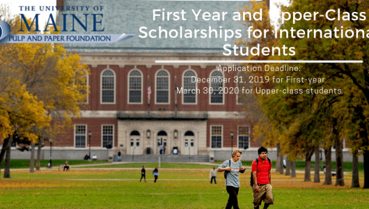 University of Maine First Year and Upper-Classinternational awards in the USA