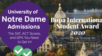 University of Notre Dame Bupa International Student Award, Australia