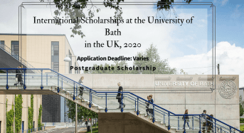 international awards at the University of Bath in the UK, 2020