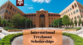 International Freshman Scholarships at Texas A&M University in USA