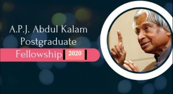 President A.P.J. Abdul Kalam Postgraduate Fellowship for Indian Students at University of South Florida, 2020