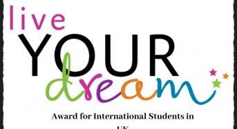 Soroptimist Live Your Dream Award for International Students in UK