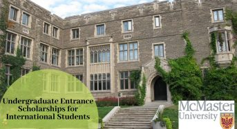 Undergraduate Entrance Scholarships for International Students at McMaster University in Canada, 2020